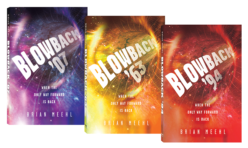 Blowback Trilogy revised editions book covers